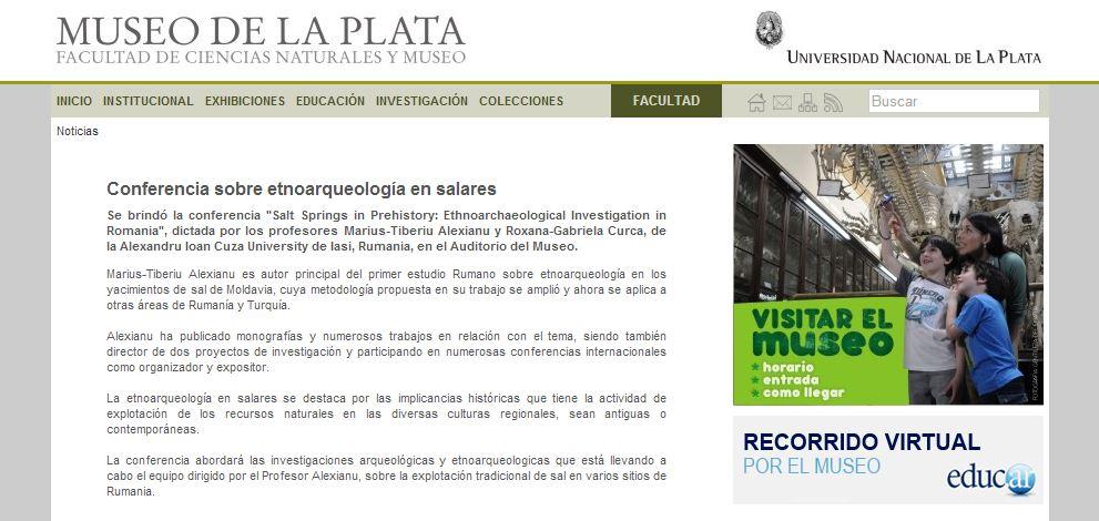 Coverage: Conferencia sobre etnoarqueología en salares